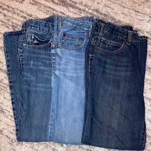 2 Old Navy boot cut and 1 Gap straight (12 Slim)